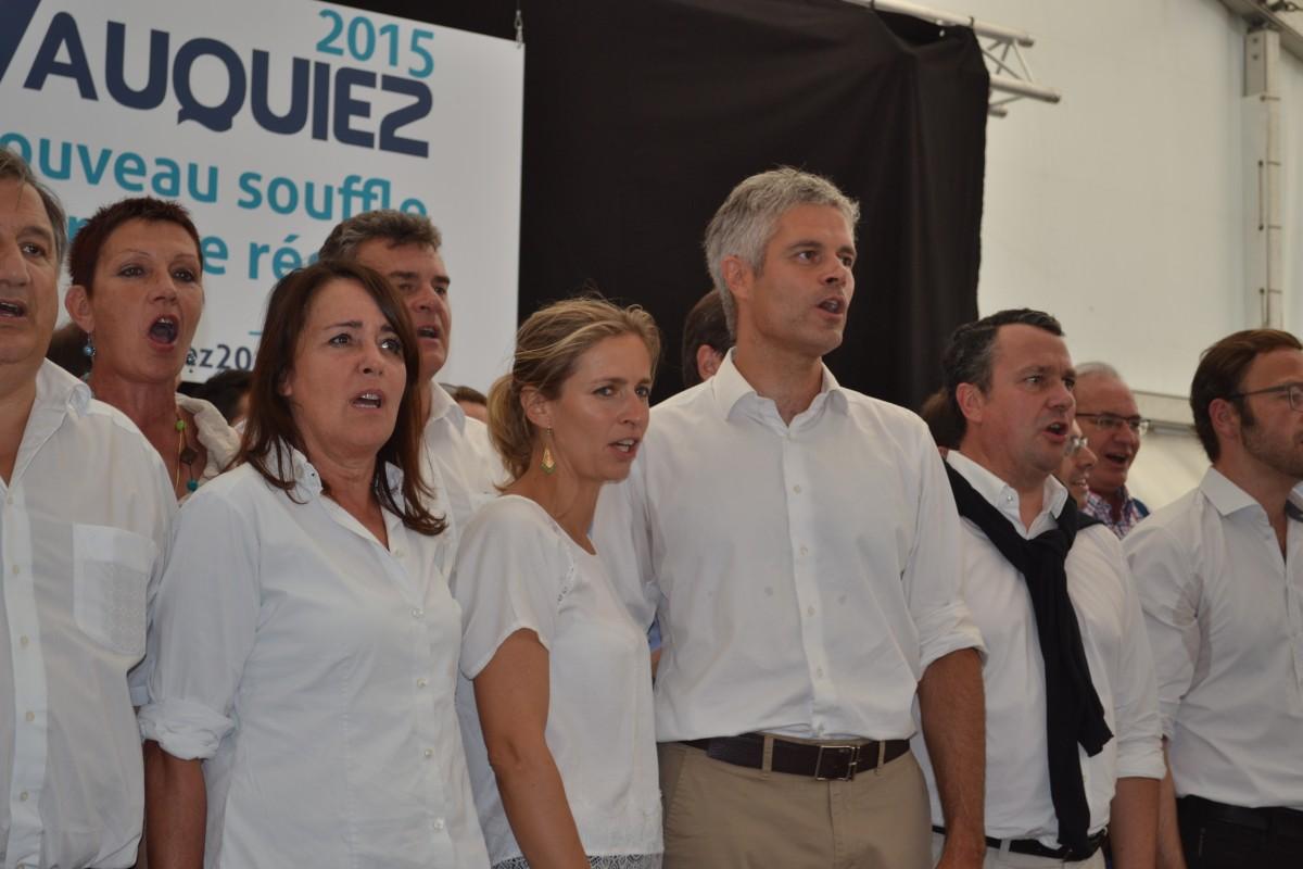 Laurent Wauquiez au Mézenc pour les régionales