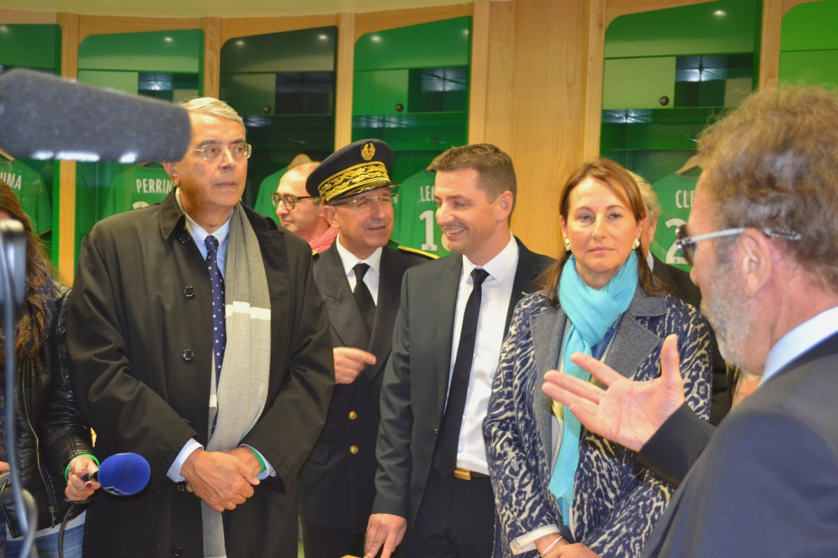 Inauguration du stade Geoffroy Guichard
