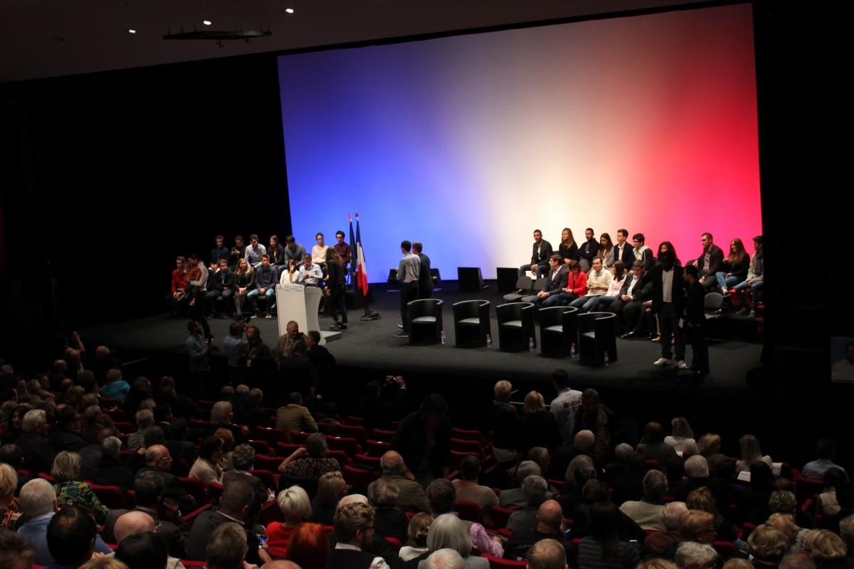 Nicolas Sarkozy (Les Républicains) en meeting à Saint-Etienne