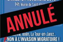 Le FN de la Loire annule sa manifestation