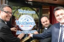 « Saint-Etienne Welcomes Europe » s'affiche chez les commerçants