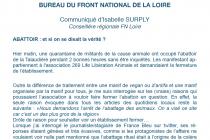 L'invasion de l'abattoir de la Talaudière médiatisé par le FN.