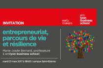 21 mars Conférence «Entrepreneuriat, parcours de vie et résilience»
