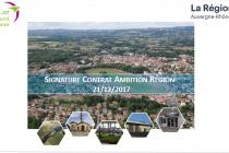 Le Contrat Ambition Région 2017-2020 pour Forez Est est signé