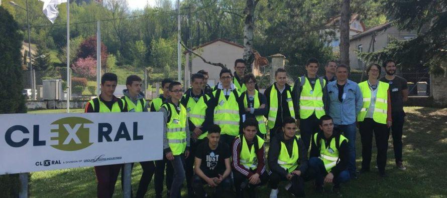 Une classe de lycée transplantée 3 jours chez Clextral (Firminy)