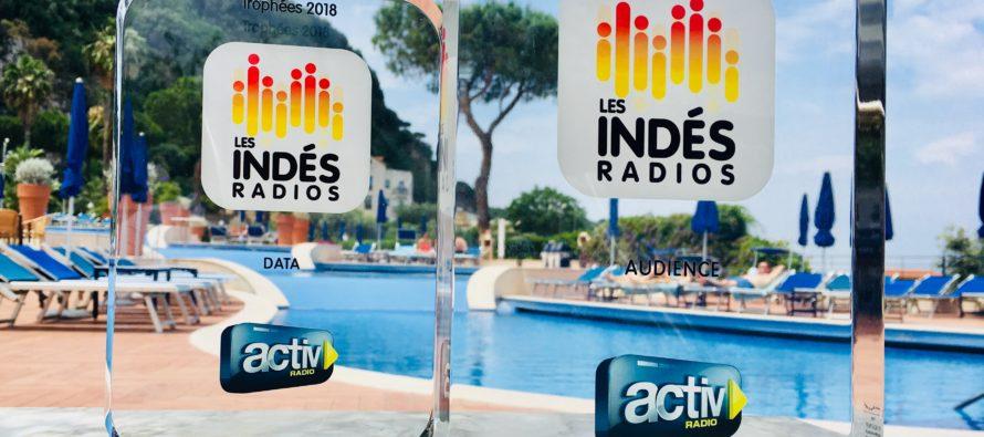 ACTIV RADIO reçoit 2 trophées lors de la convention des Indés* radios