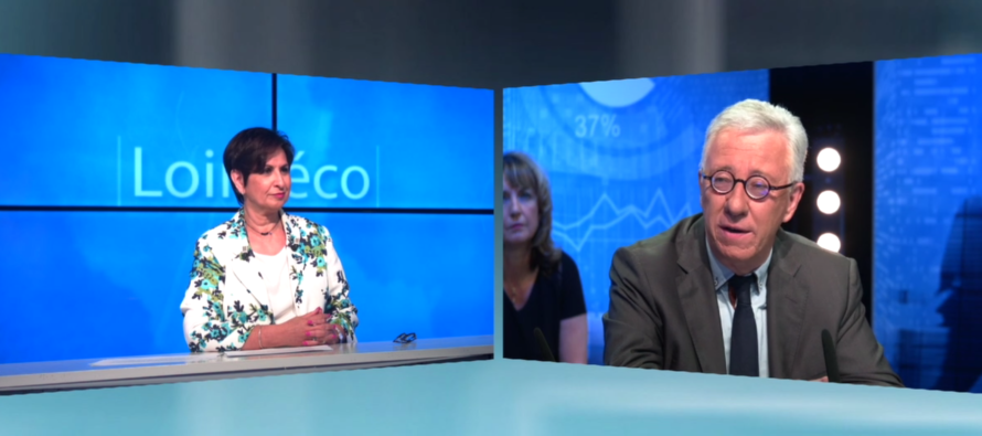 Michel Thiollière sur la télé de la Loire