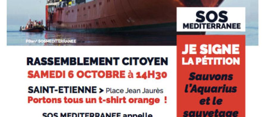Sauvons l'Aquarius manifeste à St-Etienne