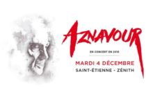 Affichage Aznavour au zénith de St-Etienne Métropole