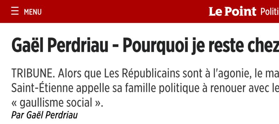 La position de Gaël Perdriau dans le Point