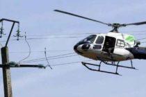 Survol d'hélicoptère à basse altitude