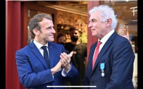 Emmanuel Macron et François Pralus